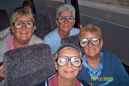 Our group having fun on the dam tour bus. - October 2009