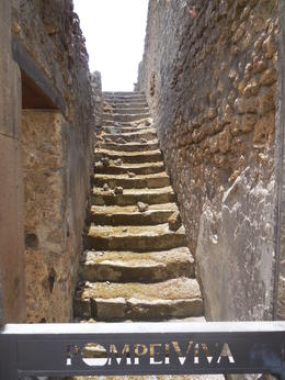 Stairs in Pompeii , Natalie - July 2014