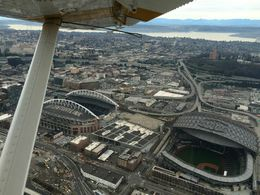 Above CenturyLink Field and Safeco Field, Monique M - March 2015
