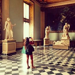 A visitor inside the Uffizi Gallery in Florence. , Eva L - August 2015