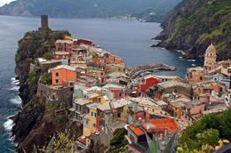 The rewarding view at the end of our 4km hike from Corniglia , Alda L - December 2014
