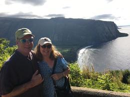 At Waipi'o Valley Lookout , Dana F - July 2017