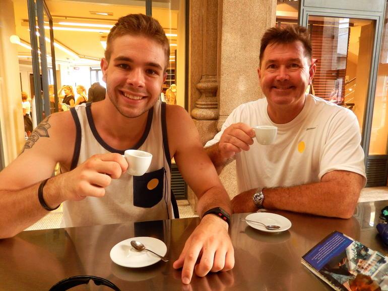 A quick break for some espresso - Rome