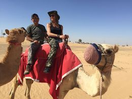 Hubby and I on a Camel , melissasal - April 2015