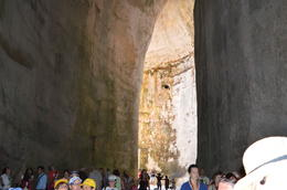 Walking in the vast cavern of Dionysus ear , Sheila H - July 2014