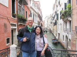 Peggy and Matt touring the streets and canals of Venice. , Matt - October 2015