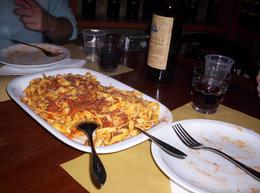 Handmadde fettucini with Bolognese sauce... Ohhhhhhhhh so good!!, Shalonda S - June 2010
