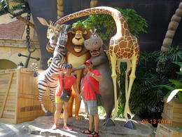 My wife and I taking a souvenir photo at one of the attractions at Universal Studios Singapore. , Alvin C - May 2014