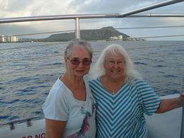 THIS WAS MY 84 YEAR OLD FRIEND'S LAST NIGHT ON WAIKIKI AND I WANTED TO MAKE IT MEMORABLE. IT WAS MY FIRST CATAMARAN RIDE AS WELL. THE CREW WAS GREAT! , Margaret D - February 2016
