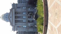 One view of the Denver State Capital Walk the steps which has markers of height above sea level , Karen P - September 2016