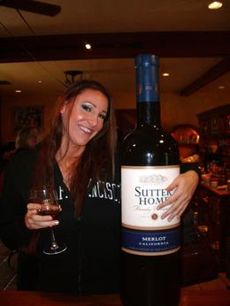 Wine tasting at the Sutter Home winery, Brooke W - April 2009