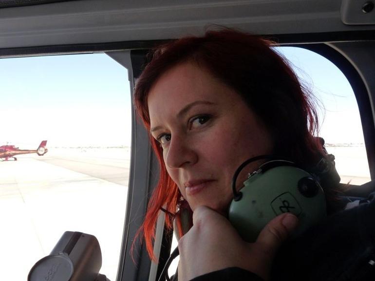 Suzann in the chopper - Las Vegas