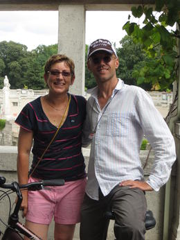 Terri with Cycling Guide Horst in Vienna , Terri W - August 2013