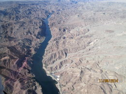 This is a beautiful view of the Colorado River going through the Grand Canyon., Nicks - November 2014