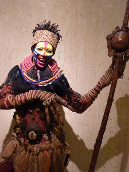 This is a waxwork of Rafiki from the Lion King which is in the ticket office for the Lion King. It was scarily lifelike!, Alison P - June 2010