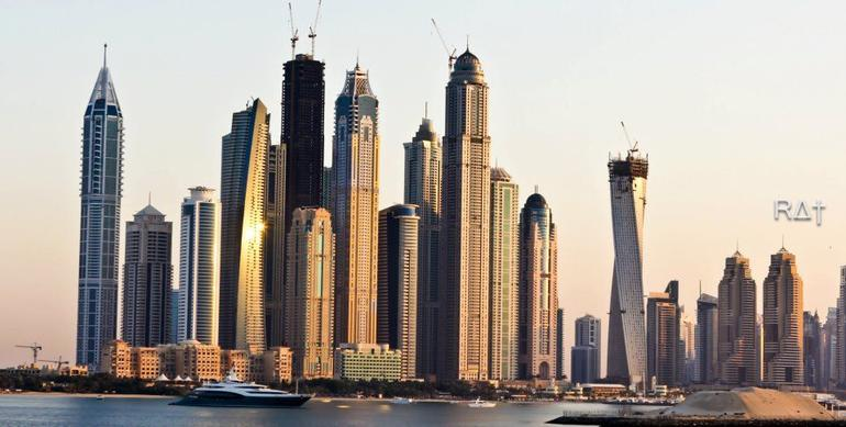 The skyscrapers at dusk - Dubai