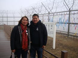 Me and my husband at the boarder , Jocelyn G - March 2014
