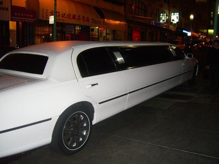White Limo in Chinatown - San Francisco