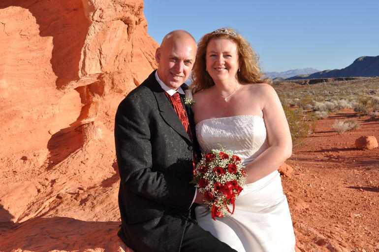 Getting married in Vegas: Wonderful scenery, Valley of Fire - Las Vegas