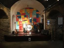 Replica of the original Cavern Club stage within The Beatles Story , Nico P - January 2017
