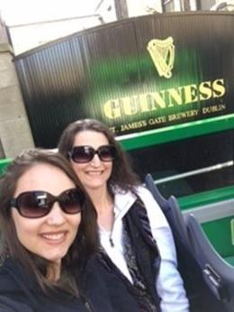 No...L and KK having a lovely day with the Hop-On Hop-Off bus and Guinness , Kristen K - August 2017