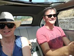 Lisa and Tony on the road, grinning like mad! , Tony J - August 2017