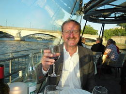 My husband enjoying a glass of bubbly! , Diane L - July 2011