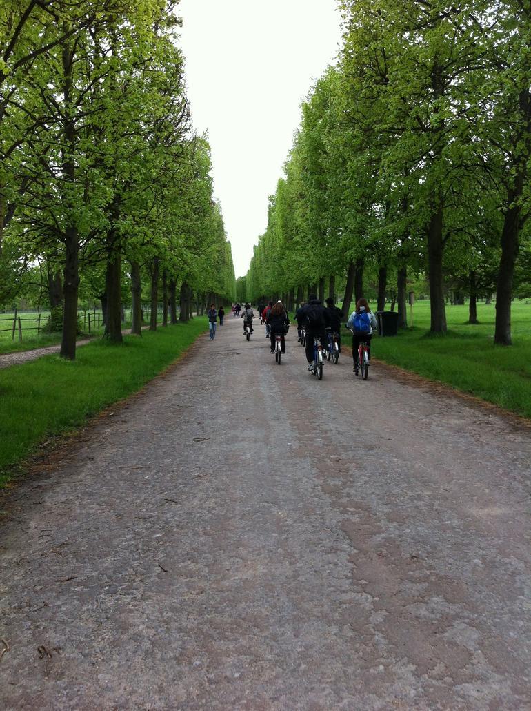 Biking through the gardens - Paris