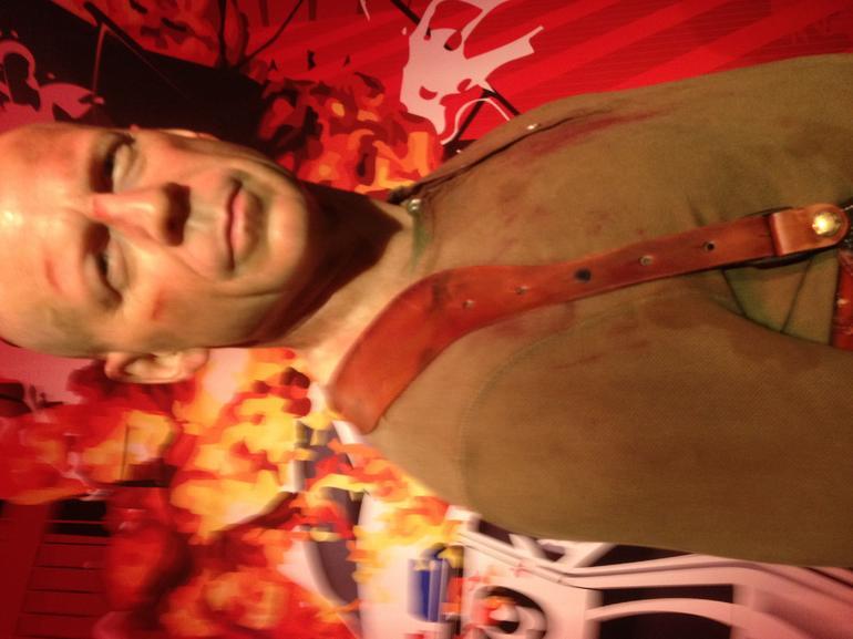 Bruce Willis wax figure at Madame Tussauds - London