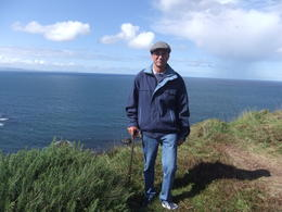 Mario on the cliffs above the Giant's Causeway during the Giant's Causeway trip from Dublin , Mario S - October 2013