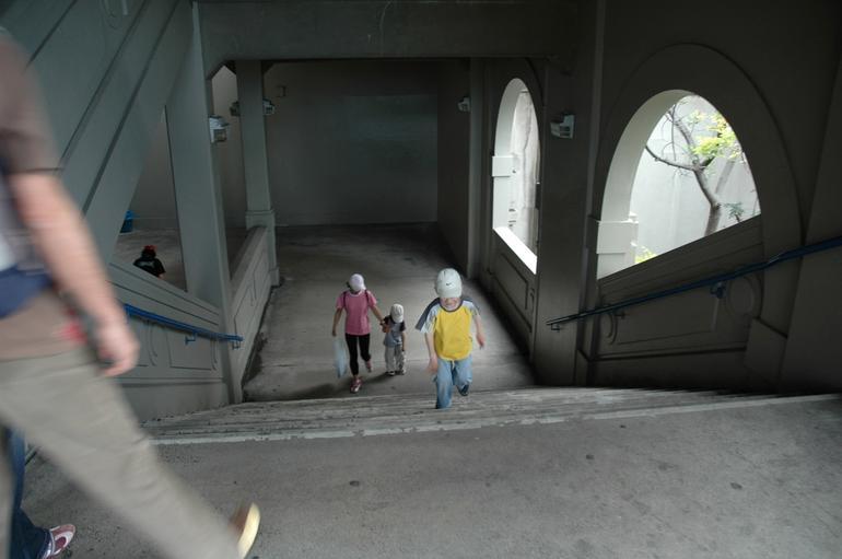Entering the bridge from the Rocks - Sydney