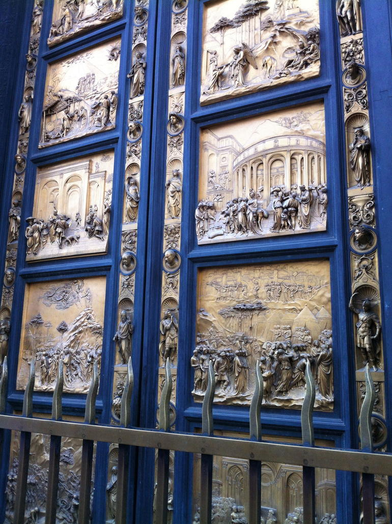 Gilded doorway to Baptismal of the Duomo - Livorno