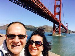 Joe and I under at the fort under Golden Gate Bridge , Karla H - July 2015
