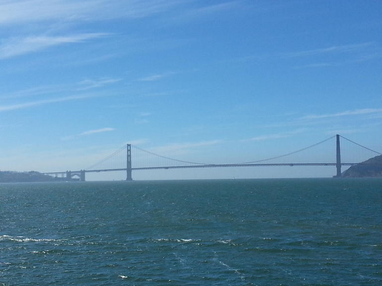 Golden Gate from Blue and Gold Ferry to SF from Sausalito - San Francisco