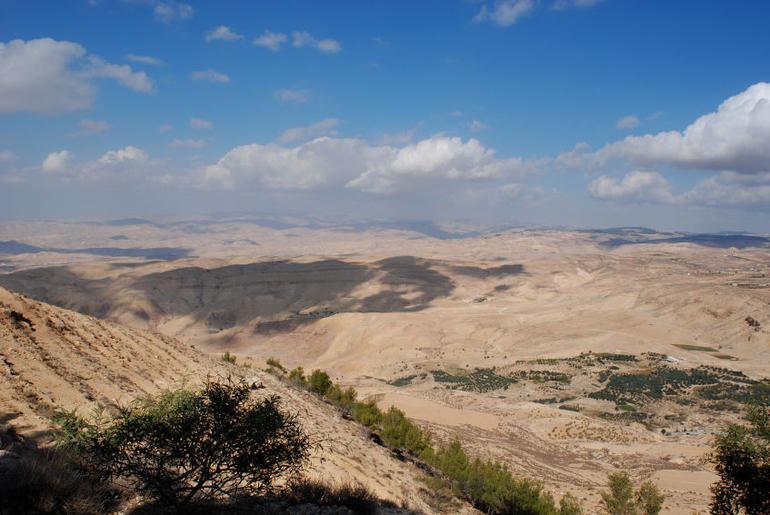 Landscape in Jordan - view from Mount Nebo - Amman