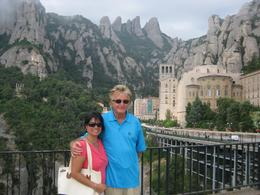 My husband Walter and I at Montserrat, Susan T - August 2010