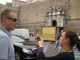 Getting ready to cross the street and enter the Vatican City. , polbrat - June 2013