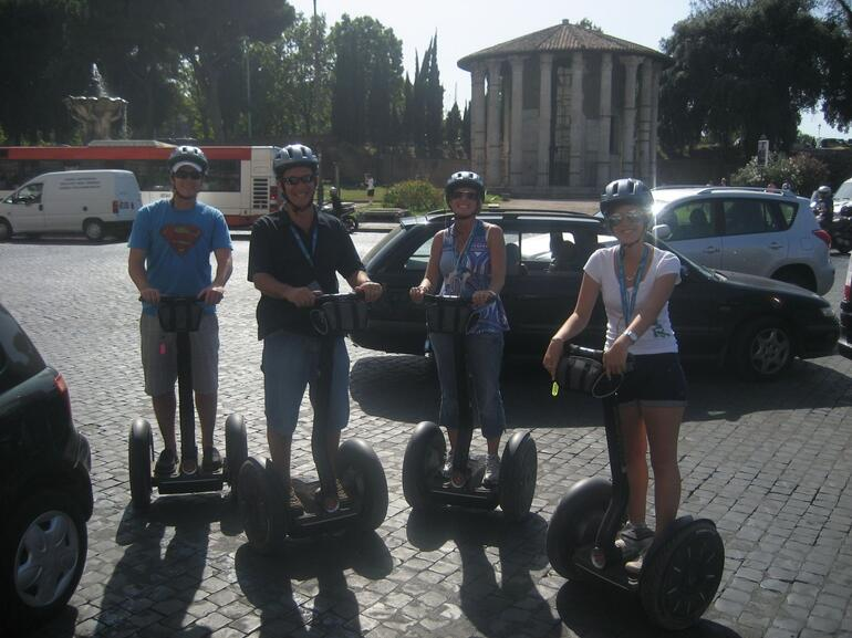 Roundabouts are easy on Segways - Rome