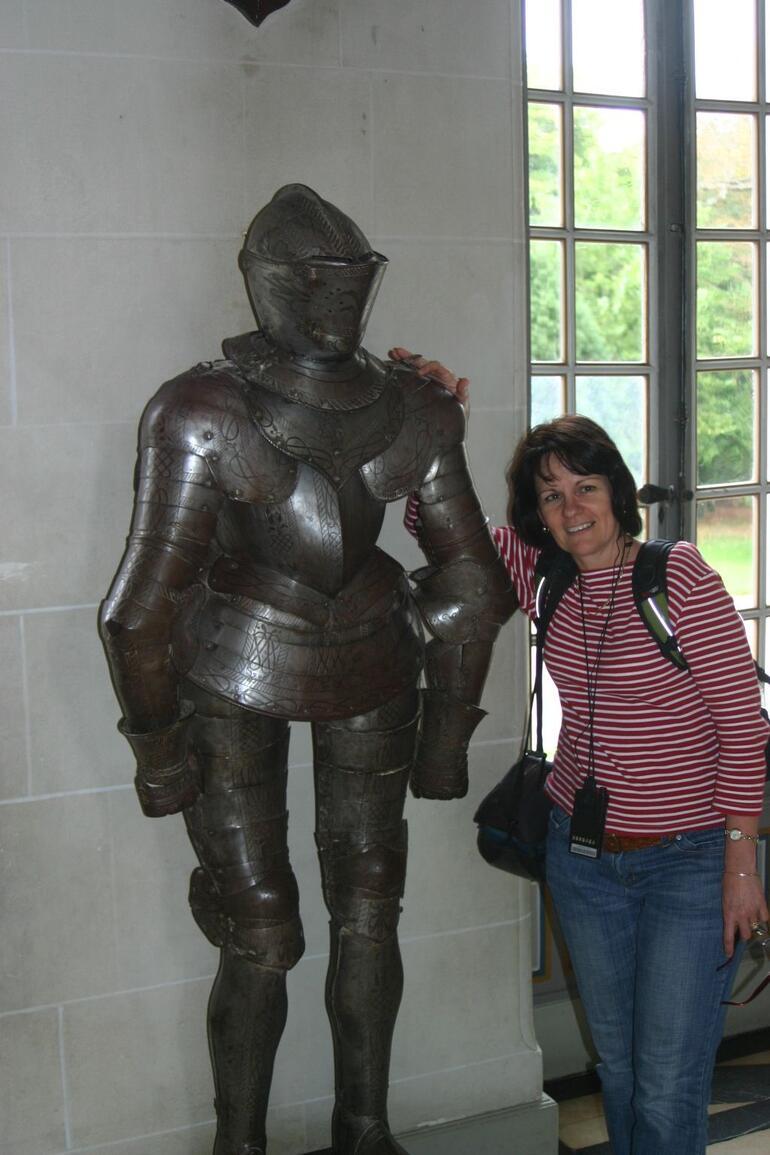 Suit of armour inside Cheverny castle - Paris