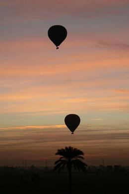 It was stunning watching the sun rise over the Luxor Nile Valley from the balloon., Beatrice P - January 2009
