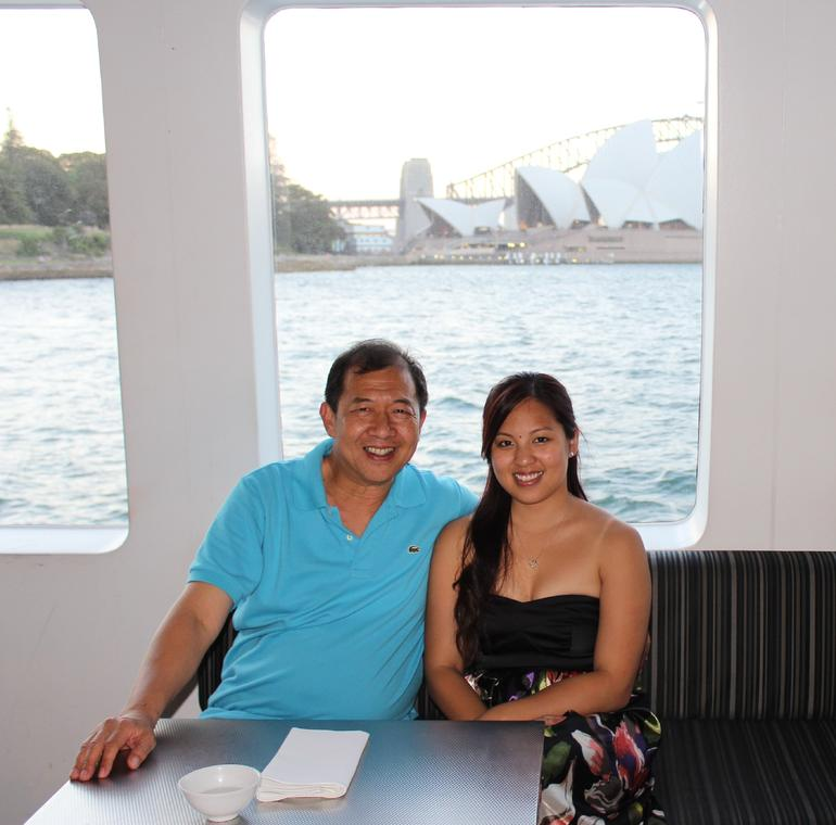 Taking time-out cruising with my lovely daughter Annabelle. - Sydney