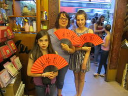 While on the Trishaw Tour of Chinatown we stopped off at Yong Gallery where we had our names written on Chinese fans in Mandarin. , Maria H - September 2011