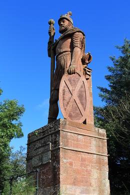 An inaccurate statue of Sir Walter Scott. , Destini K - November 2012