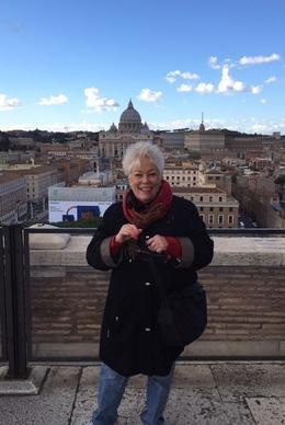 Sandi Heidorn atop Castel St Angelo, 12/1/2017 , Sandra H - December 2017