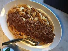 Our homemade pasta and ragu. , Janice C - January 2018