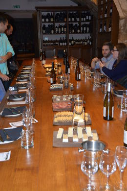 The start of the wine tasting lunch , Susan C - November 2014
