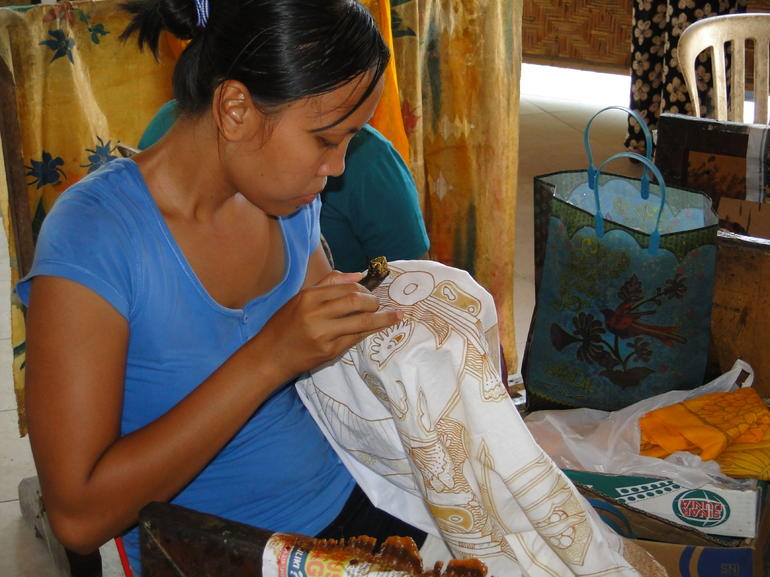 A local artisan making batik - Bali