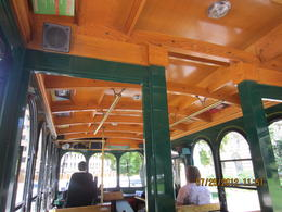 I loved the fantastic woodwork in these trolleys - so authentic to an earlier time. The colored routes were easy to identify and navigate. I would definitely do this again and recommend it to ... , Patricia O - August 2012