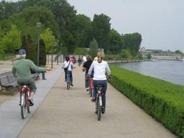Riding our bikes through the city of Berlin. - October 2008