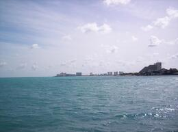 View from the ferry to Isla Mujeres - June 2008
